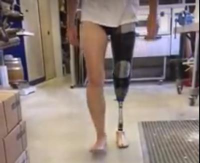 test nieuwe prothese
